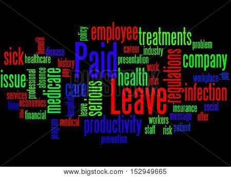 Paid Leave, Word Cloud Concept 2