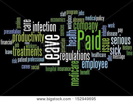 Paid Leave, Word Cloud Concept 4