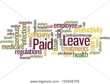 Paid Leave, Word Cloud Concept 7