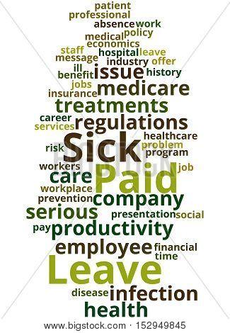 Paid Sick Leave, Word Cloud Concept 5