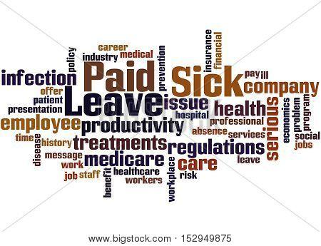 Paid Sick Leave, Word Cloud Concept 8