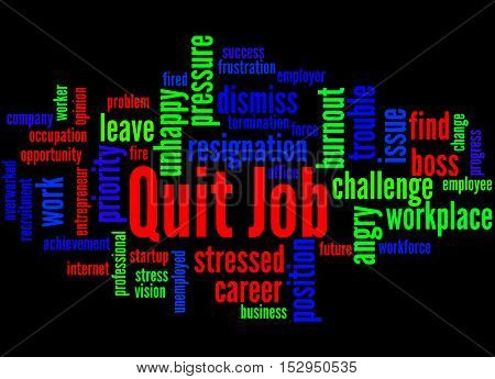 Quit Job, Word Cloud Concept 2
