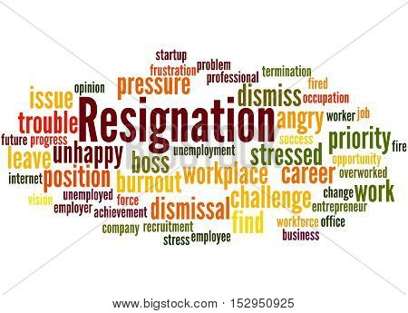 Resignation, Word Cloud Concept 4