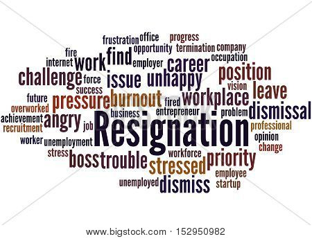 Resignation, Word Cloud Concept 7