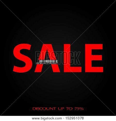Sale. Black friday background. Vector illustration. Design card, banner
