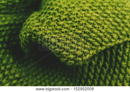 Knitted wool fabric texture background close up