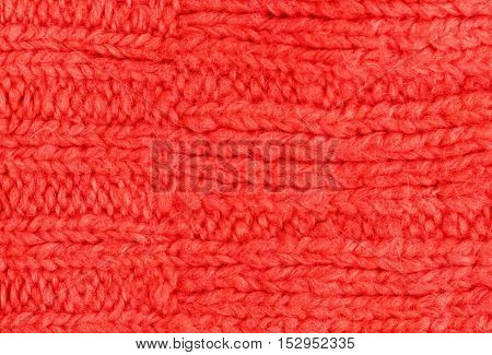 Colorful knitted horizontal textured background close up