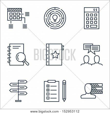 Set Of Project Management Icons On Warranty, Personal Skills And Analysis Topics. Editable Vector Il