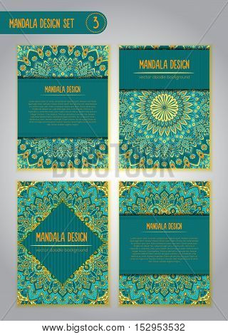 Tribal Mandala Design Set. Vintage Decorative Elements.