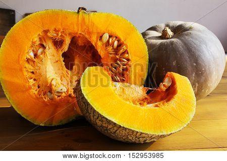 Ripe Pumpkin With Seeds