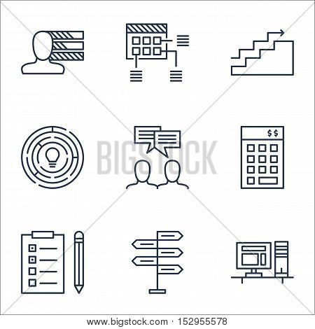 Set Of Project Management Icons On Opportunity, Investment And Innovation Topics. Editable Vector Il