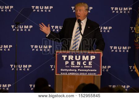 Trump Brings Battle To Gettysburg