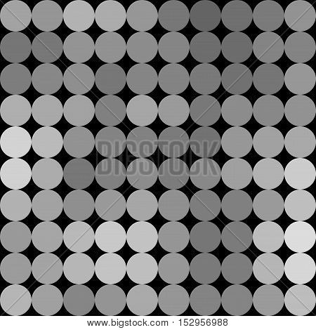 Gradient Low Poly Circle Style Vector Mosaic Background
