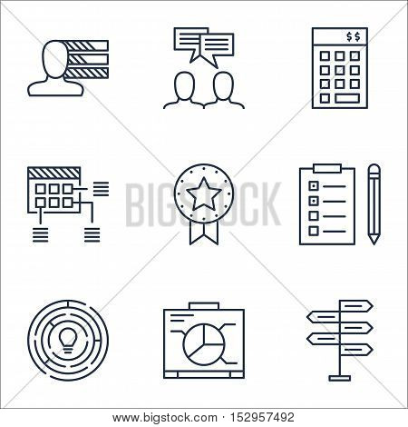 Set Of Project Management Icons On Investment, Opportunity And Schedule Topics. Editable Vector Illu