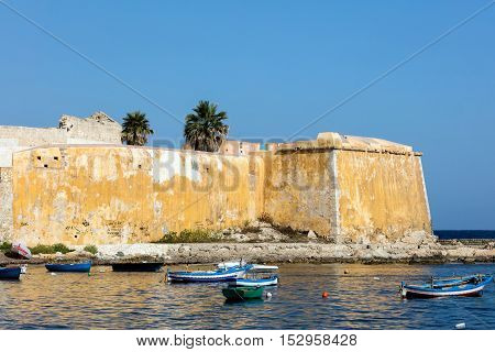 Bastion Conca 15th century waterfront fortifications in Trapani Sicily