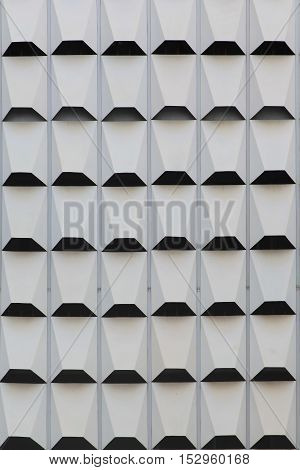 Modern architecture Fin Abstract background with white shapes
