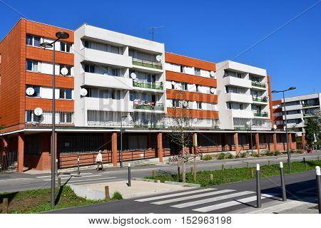 Les Mureaux France - october 5 2016 : the Louis Bleriot street