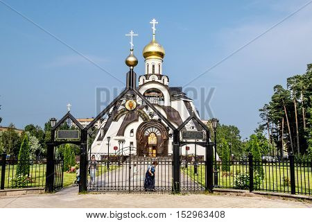 Sosnoviy Bor.Russia.25 july 2016. Cathedral of the icon of the Mother of God