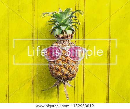 Life Simple Balance Relax Simplicity Happiness Concept
