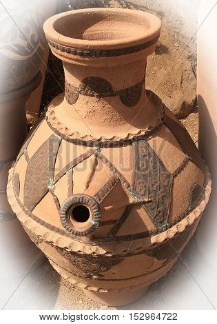 Moroccan pottery from the region of Marrakesh discovered on  the roadside on the way to Ourika