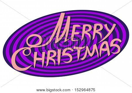 Merry Christmas Lettering Design. Vector illustration EPS10