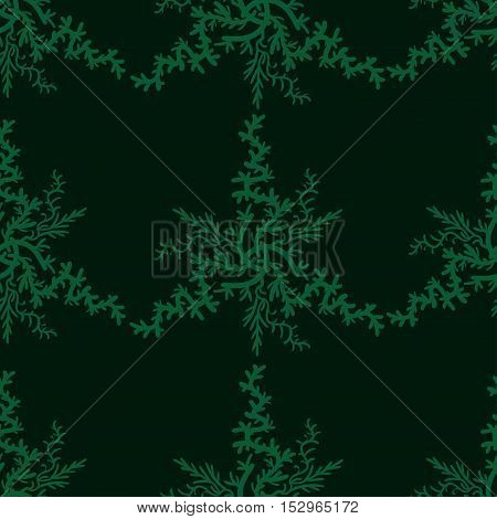 Retro stylish winter background, hand-drawn snowflakes. Vector illustration. Seampless pattern