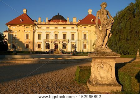 Fairytale chateau Slavkov Austerlitz in Czech republic