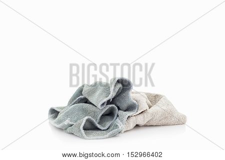 pile of dirty cloth Isolated on white background.