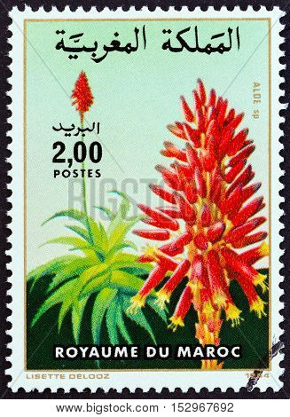 MOROCCO - CIRCA 1984: A stamp printed in Morocco from the