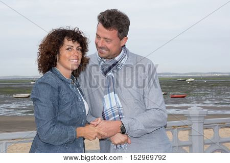 Cheerful Couple In Love Outdoor.stunning Sensual Outdoor Portrait