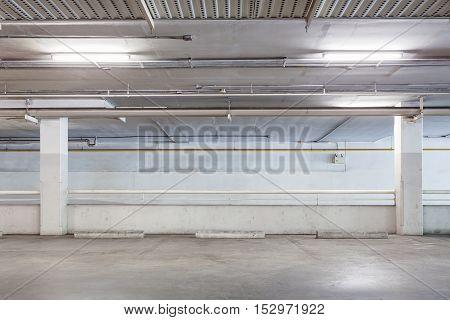 Parking garage interior industrial building Empty underground