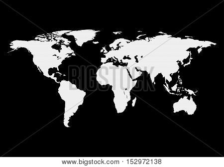World map isolated on black background, vector illustration