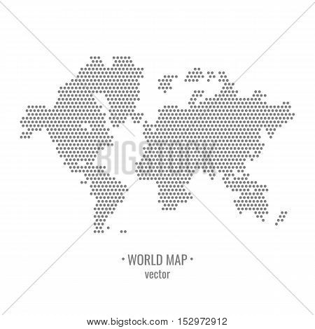 Dotted world map. Drawing all the continents. Vector illustration.