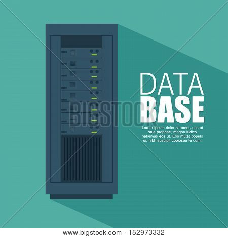 data server computer storage with shadow icon vector illustration eps 10