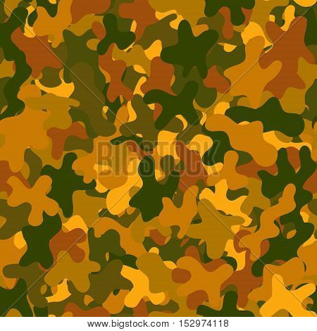 abstract vector chaotic spotted seamless pattern - orange and green