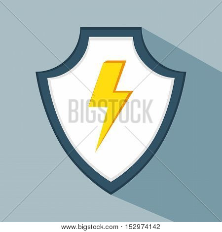 data secure warning protection shield vector illustration eps 10