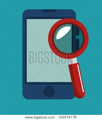 smartphone search data security icon vector illustration eps 10