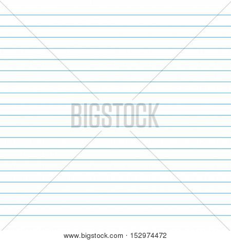 School notebook paper. Paper background. Vector illustration