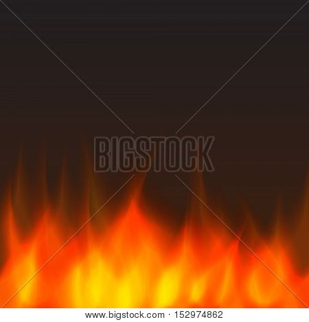 abstract vector fire background - orange and yellow