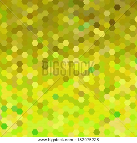 abstract vector geometric hexagon background - yellow and green
