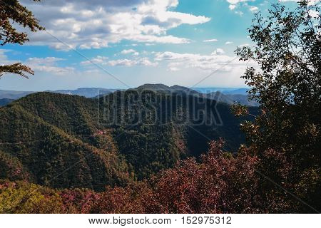highlands of the island of Cyprus. Mountain landscapes