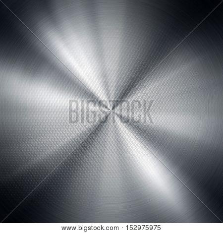 polished iron mesh with lighting background