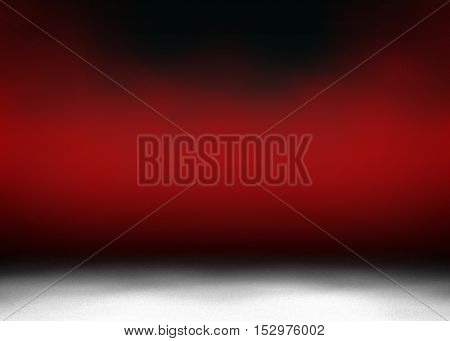 red paint with empty interior background