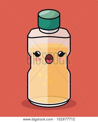 bottle honey kawaii character icon vector illustration eps 10