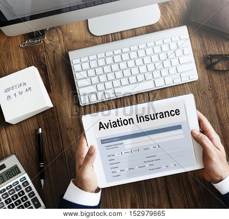 Aviation Flight Insurance Form Concept