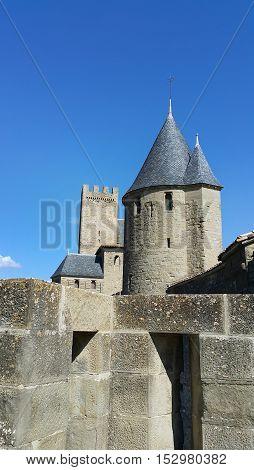 Medieval castle of Carcassonne Languedok -Roussillon France