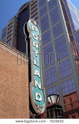 Famous Downtown Portland Oregon Sign