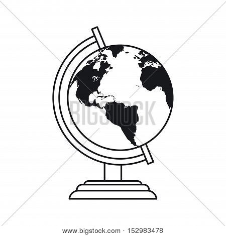 Planet sphere icon. School education supply and object theme. Isolated design. Vector illustration