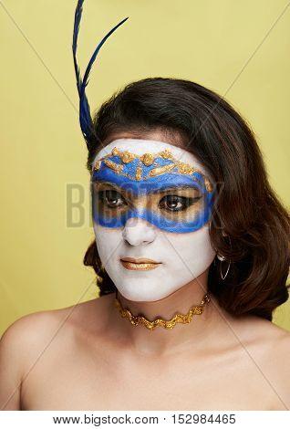 Women Wearing Painted Mask