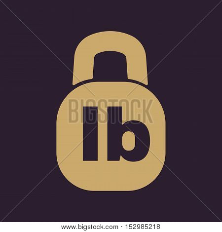 The pound icon. Lb and weight symbol. Flat Vector illustration